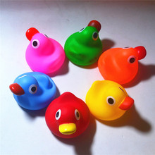 Baby Bath Toys PVC Duck Shower Water Floating Mini Bathroom Toys Supplies Birthday Gifts 1pc(China)
