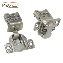 Probrico 4 Pair Soft Close Kitchen Cabinet Hinge CHM36H1-1-4 Concealed Frame Insert Overlay Furniture Cupboard Door Hinge(China)