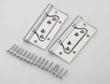 1Pair 4'' Stainless Steel Door Hinges Picture-in Hinges Heavy Duty Hinges New
