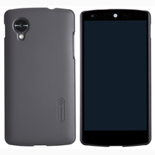 For LG Nexus 5 Case, Nillkin Super Frosted Shield Black Hard Case Shell Cover For LG Google Nexus5 Free Screen Film Protective(China)