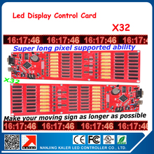 LED display control card X32 Infinite Width Support P2.5 P3 P6 P8 P10 P16 Led Module LED Screen control card for Text Picture(China)
