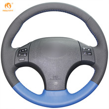 MEWANT Black Blue Genuine Leather Car Steering Wheel Cover for Lexus IS IS250 IS250C IS300 IS300C IS350 IS350C F SPORT 2005-2011(China)