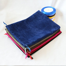 Top Quality 20x25cm Big Size Drawstring Soft Black/Red/Blue/Grey/Rose Double-sided Velvet Bag Pouch Gif Bags Free Shipping