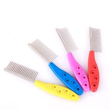 Stainless Steel Pet Dog Comb for Dogs Cats Hair Removal Single Row Straight Comb Puppy Hair Grooming Tool Pet Products Wholesale(China)