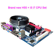 Brand New Motherboard With CPU H55 Set+Fan LGA 1156 Core i5 M520 i7 620M Micro ATX DDR3 1333 Desktop Computer Mainboard Assemble