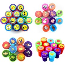 36PCS Self-ink Stamps Kids Party Favors Supplies for Birthday Christmas Gift Boy Girl Goody Bag Pinata Fillers Fun Stationery(China)