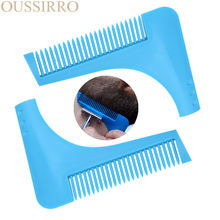 2017 New Comb Beard Trimmer Shaping Tool Sex Man Gentleman Beard Trim Template Beard Combs Shaving Hair Molding(China)
