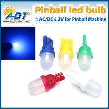 Colorful white blue yellow red green color AC DC 6.3V frosted pinball led bulbs