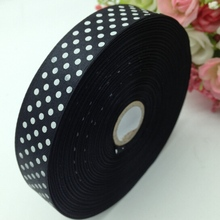 Real Hl 1 Roll (50yards) 18mm Width Printed Dots Satin Wedding Party Decoration Crafts Making Ribbon Bows Diy Accessories A934