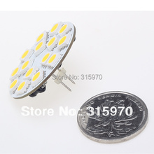 15 LED G4 Light Round Board SMD 5050 Wide voltage AC/DC10-30V  Back Pin White Warm White MR11 MR16 halogen replacment