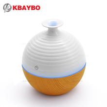 USB Ultrasonic Humidifier 130ml Aroma Diffuser Essential Oil Diffuser Aromatherapy mist maker with 7 color LED Light Wood grain(China)