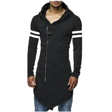 Buy High Casual Men's Hooded Black Gown Sudaderas Hombre Hip Hop Hoodies Sweatshirts long Sleeves Jackets Coats for $20.99 in AliExpress store