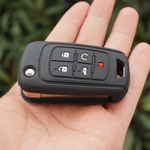 silicone key fob case cover skin sticker protected for Chevrolet Equinox Camaro AVEO Impala GMC terrain 5 BTN button accessories