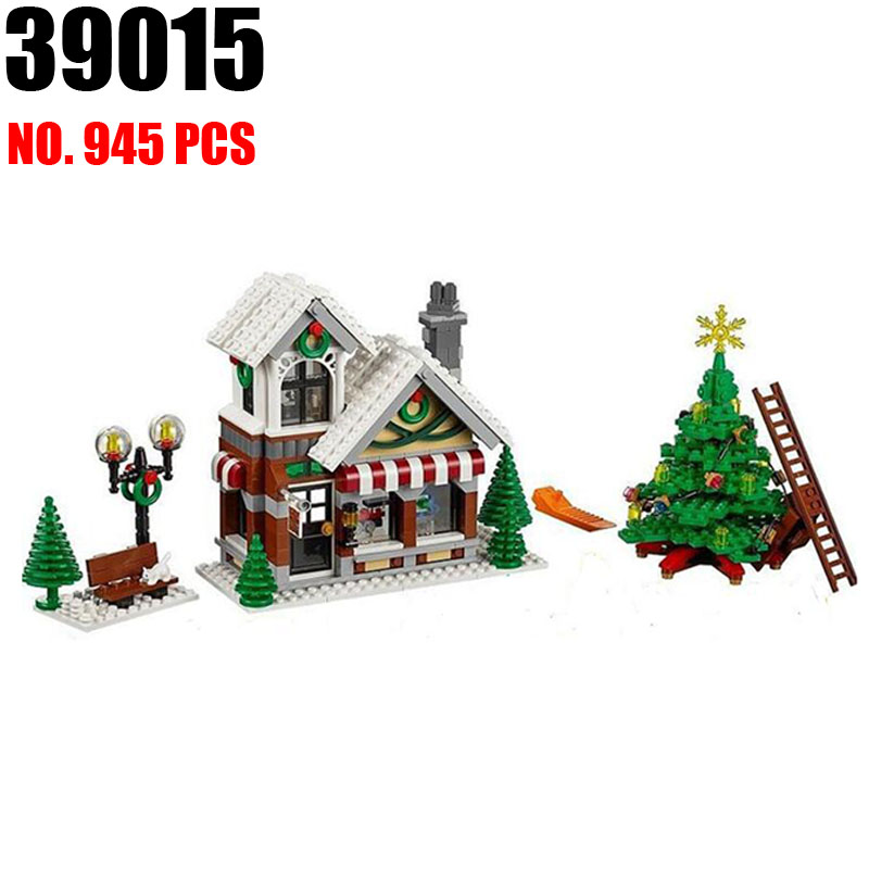 AIBOULLY Girl Series 39015 Cinderellas Christmas hut Blocks Educational Brick Toy Figures compatible 10249<br>