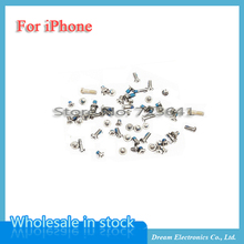 10sets/lot Replacement Full Screws Set for iphone 5 5S 6 6S 4.7'' Plus 5.5'' Complete screw kit with 2 Bottom Screws Open Parts
