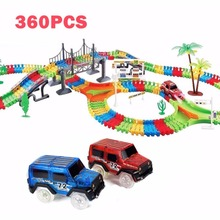 Track Car Hot Wheels Glowing Lighting DIY Slot Led Battery Electric 1:64 Model Mini Rail Car Toys for Boys Track Toy(China)