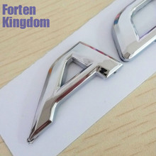 Forten Kingdom Car Word Symbol For ACCENT ABS Chrome Rear Trunk Emblem 3D Letter Sticker Auto Custom Tail Badge Decal
