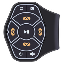Buletooth Handfree Car Steering Wheel Remote Control Music Audio Receiver Adapter Car kit for iphone Car Accessories(China)