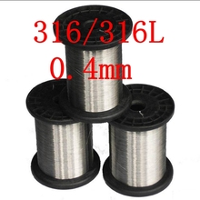 0.4mm,316/316L Soft Stainless Steel Wire,27 gauge/0.4mm SS Seaworthy Thread(China)
