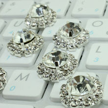 10pcs/lot Diamante Rhinestone Crystal Buckle Ribbon Sliders 18mm For Wedding Party Table Home Decorations