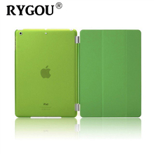 Rygou For Apple iPad mini 1 2 3 Case PU Leather Magnetic Front Smart Cover+Crystal Clear/Matte Hard Back Case for iPad Mini 3(China)