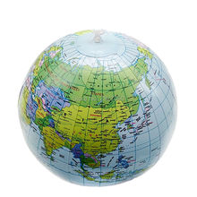 Inflate Globe Map Inflatable Earth World Teacher Beach Ball Geography Detailed Illustration Toy