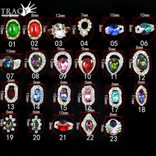 Tracy Simple Nail 1X 3d Nail Art Decoration Metal Alloy 23 Gem Designs 3d Beauty Charm Germ Rhinestones Tips Sticker TRNC312