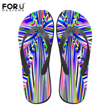 FORUDESIGNS Famous Brand Men's Flip Flops Fashion Summer Beach Rubber Slippers Male Outside Flats Sandals Shoes Men Flip-Flops(China)