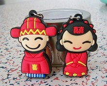 Wedding giftbride/groom usb stick 1gb 2gb 4gb 8gb 16gb 32gb Couples Pendrive high quality USB Flash Drive 50pcs/lot