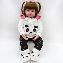 Reborn Doll Toys Brinquedos Bebes Baby-Girl Soft-Silicone Children's Bonecas 47cm Bed-Time