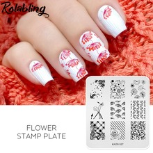 Buy 1PC Flower Design 7*8cm Nail Stamping Plates Stamp Stamping Stainless Steel DIY Nail Polish Print Manicure Nail Stencil Template for $2.50 in AliExpress store