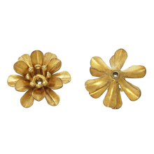 "DoreenBeads Brass Beads Caps Flower Stamping Filigree Brass Tone (Fit 4mm Beads) 14mm( 4/8"") x 13mm( 4/8""), 20 PCs"