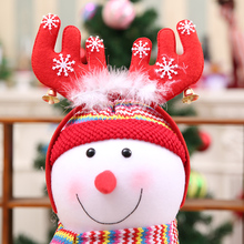 Christmas Hair Band Christmas Deer Ears Children Bell Red Antler Head Buckle Gifts Party Decoration(China)