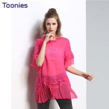 Buy European Spring Summer Sweet Solid Pattern Womens Tops Blouses Hole Hollow Chiffon Blouse Shirt Women Casual Blusas for $8.41 in AliExpress store