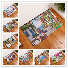 New Beautiful Creative Rugs Washable Country Landscape Carpet Mats Bedroom  Non Slip Floor Mats Area