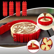 4 Pcs/lot Magic Silicone Baking Mold Snake DIY Creative Non-stick Cake Molds Square Rectangular Heart Shape Pastry Tools