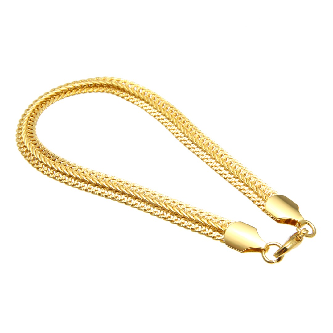 Bracelet for Men Women Curb Cuban Link Chain Gold Silver Black Wristband Cuff Bracelets & Bangles Fashion Hip Hop Hand Jewelry