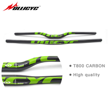 Ullicyc Hot sale Carbon mountain bike bicycle handlebar carbon handlebar MTB 3k glossy 31.8*600/640/660/680/700/720mm handlebar(China)