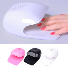 New Nail Polish Dryer Fan Mini Portable Nail Art Drying Polish Blow Dryer Pink White Black Manicure DIY Tools 2017 Beauty Sale