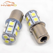 10Pcs 1156 BA15S 1157 P21 5W 13 SMD 5050 Car Led Turn Signal Lights Brake Tail Lamps 13SMD Auto Rear Reverse Bulbs DC 12V