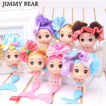 JIMMY BEAR 10 Pcs/Set Children's Little Bobby Mermaid Doll Doll's Birthday Salon Children's Toys(China)