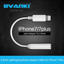 Bvanki Original Adapter for iPhone 7 7Plus 6s Plus 5s for Lightning Cable to 3.5mm Earphone Jack Cable Adapter new products 2016