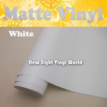 Printable Matte White Self Adhesive Vinyl Film Air Free Bubble For Digital Printing Car Decals Size:1.52*30m/Roll