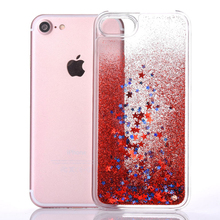 Buy Luxury Bling Glitter Stars Dynamic Liquid Quicksand Hard PC Crystal Phone Case iPhone 7 7 Plus Transparent Clear Back Cover for $2.44 in AliExpress store
