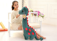 new dark green big lovely  dinosaur toy plush dinosaur pillow doll new creative doll about 100cm