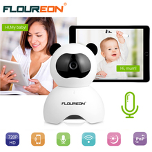 New Arrival ! Floureon Cute Panda WIFI Wireless Video Color Baby Monitor High Resolution Baby Monitor Nanny Security Camera(China)