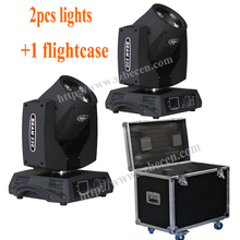 HOT product !!! 2pcs 230W Sharpy 7R Beam Moving Head Light +flightcase for dj club(China)