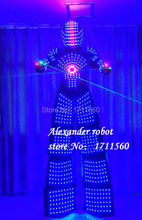 LED robot Costume /LED Clothing/Light suits/ LED Robot suits/ Alexander robot suit(China)