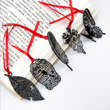 Diy Retro Metal Bookmarks Blackbird Butterfly Mosaic Gift Bag Korean Stationery Exquisite Elegant Free Shipping(China)