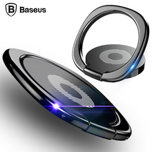Baseus Universal 360 Degree Rotation Finger Ring Holder Mobile Phone Holder Magnetic Car Bracket Stand Mobile Phone Accessories
